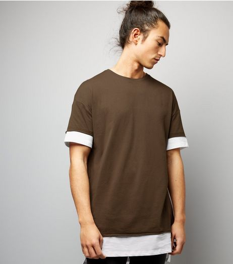 Brown Layered Longline T-shirt | New Look