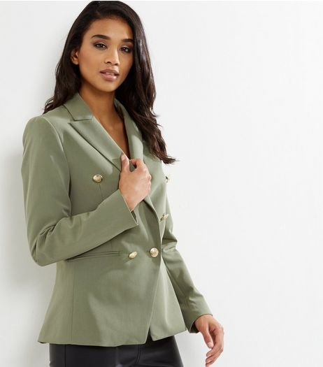 Khaki Military Blazer  | New Look