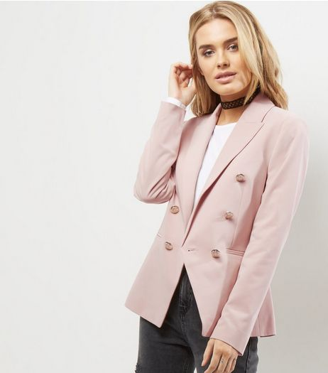 Shell Pink Military Blazer | New Look