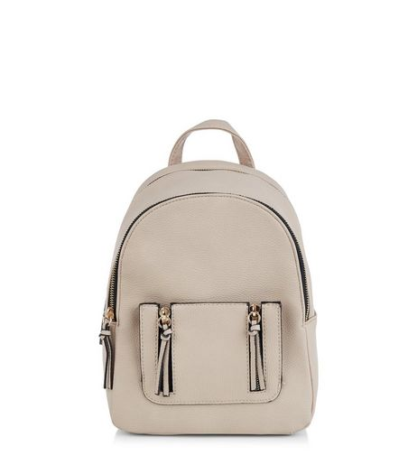 Stone Tassel Zip Mini Backpack | New Look