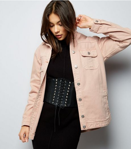Shell Pink Shacket  | New Look