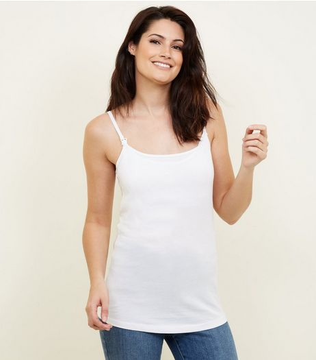 Maternity White Nursing Vest | New Look