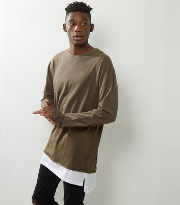 Light Brown Layered T-Shirt