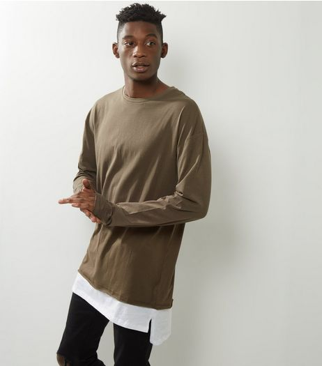 Light Brown Layered T-Shirt  | New Look