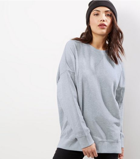 Tall Grey Balloon Sleeve Sweater | New Look
