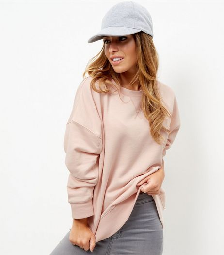 Petite Shell Pink Balloon Sleeve Sweater | New Look