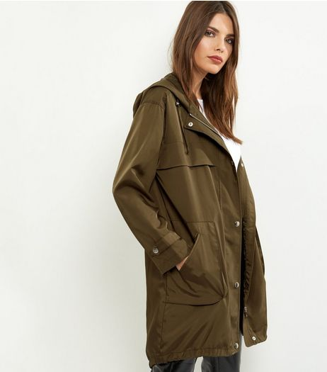 Khaki Lightweight Parka  | New Look