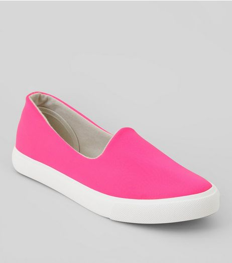 Pink Scuba Plimsolls | New Look