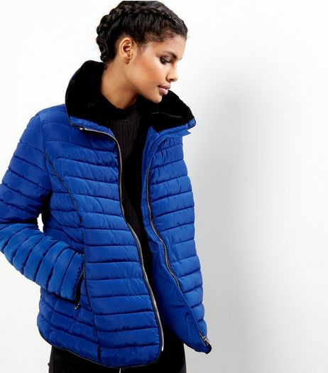 Blue Padded Puffer Jacket | New Look