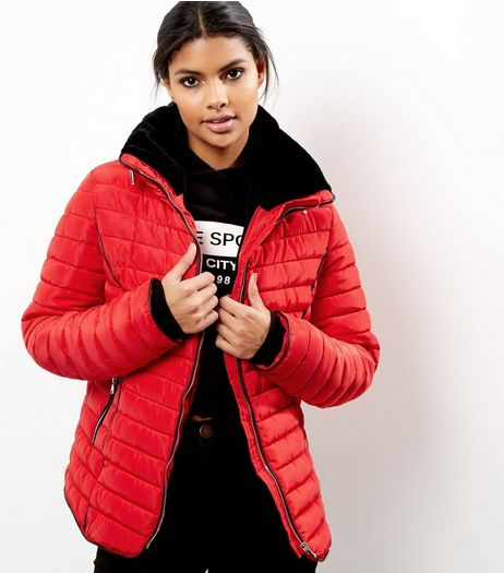 Red Padded Puffer Jacket | New Look