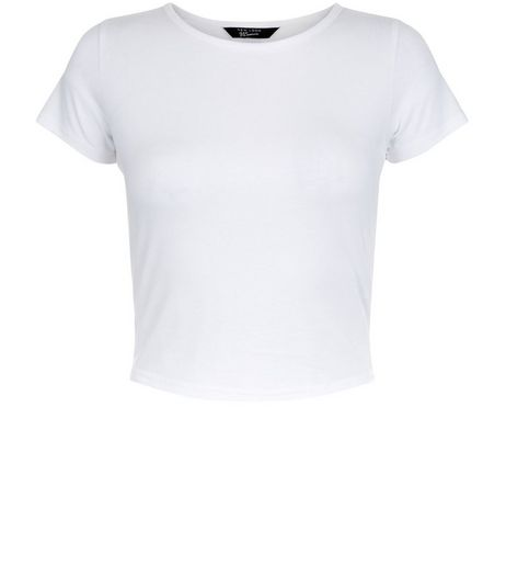 Teens White Cropped T-shirt | New Look