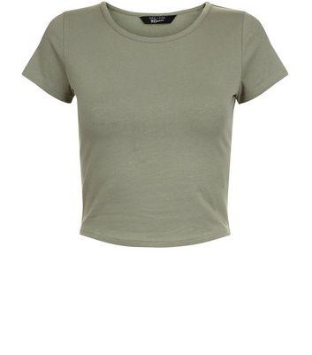 Teens Khaki Cropped Tshirt