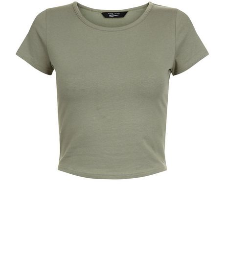 Teens Khaki Cropped T-shirt | New Look
