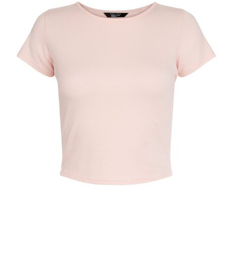 Teens Pink Cropped T-shirt | New Look