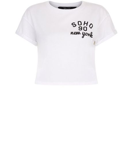 Teens White Soho Cropped T-shirt | New Look