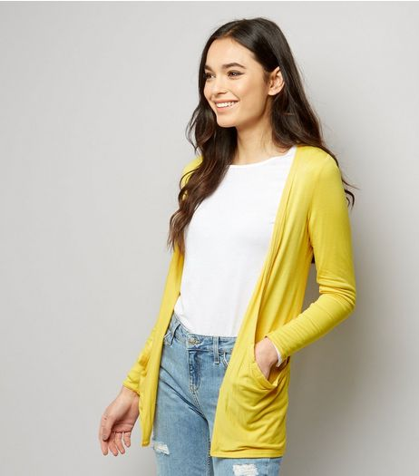 Yellow Boyfriend Cardigan | New Look