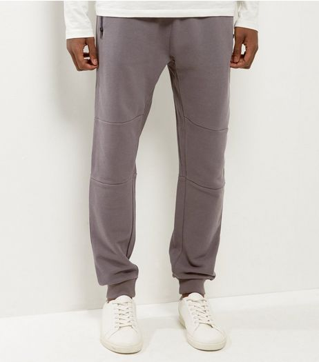 Grey Panel Cuffed Joggers | New Look