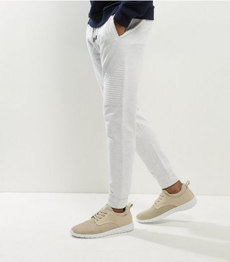 Cream Ecru Biker Joggers | New Look