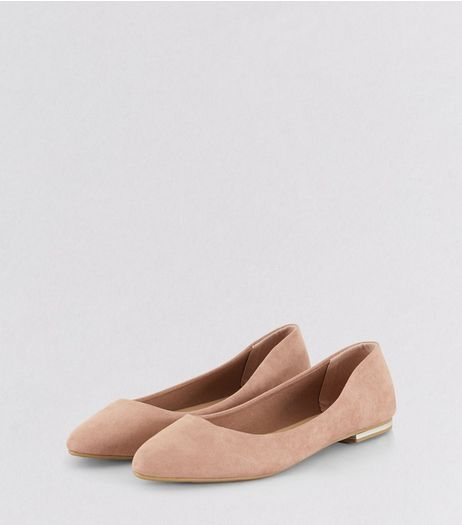 Pink Suedette Metal Trim Pointed Pumps | New Look