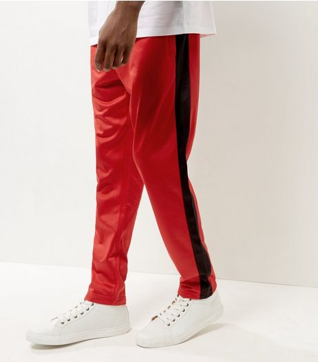 Red Side Stripe Joggers | New Look