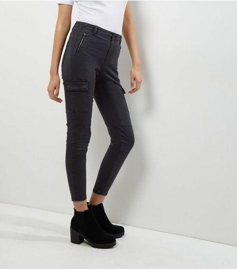 Grey Cargo Utility Trousers  | New Look