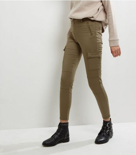 Khaki Cargo Utility Trousers  | New Look