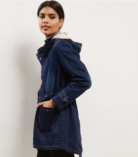 Blue Vanilla Blue Denim Parka  | New Look