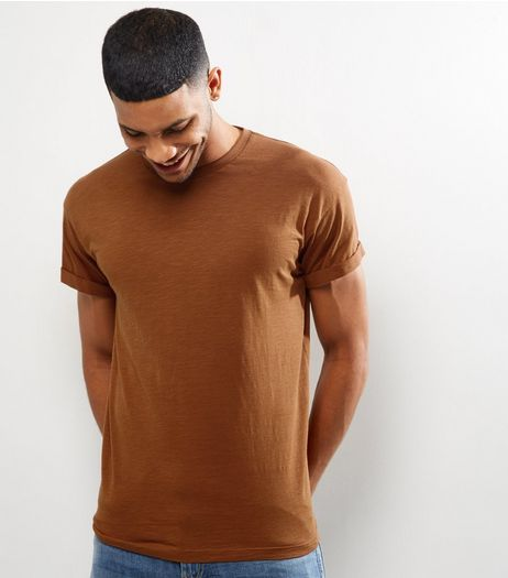 Tan Cotton Short Sleeve T-Shirt | New Look