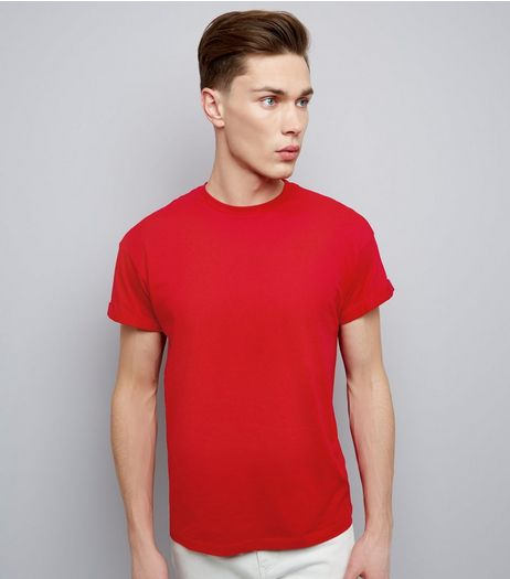 Red Cotton Short Sleeve T-Shirt | New Look