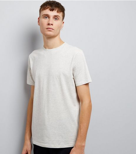 Cream Cotton Crew Neck T-Shirt | New Look