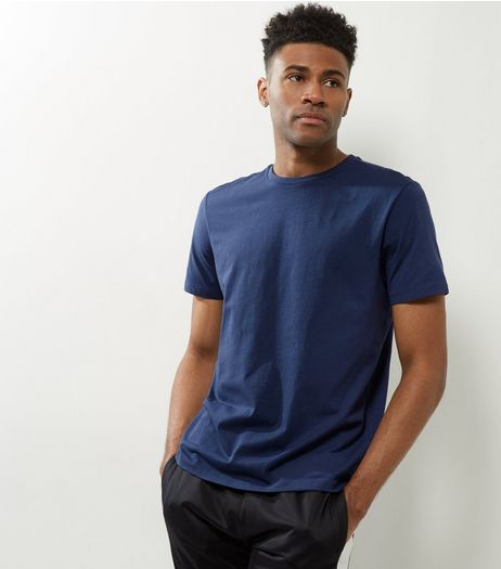 Blue Cotton Crew Neck T-Shirt | New Look
