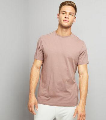 Deep Pink Crew Neck T-Shirt