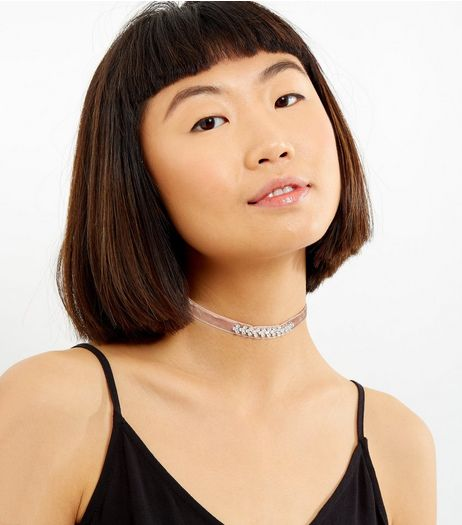 2 Pack Velvet and Lace Chokers | New Look
