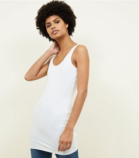 White Longline Vest  | New Look