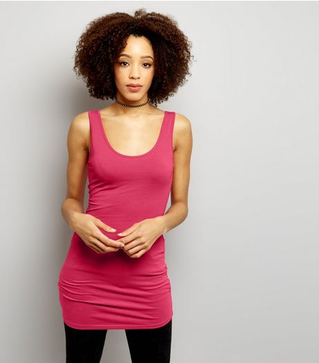 Bright Pink Longline Vest | New Look