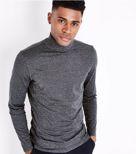 Grey Roll Neck Long Sleeve Top | New Look