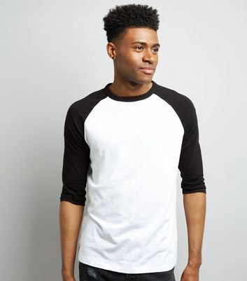 Black 3/4 Raglan Sleeve T-Shirt