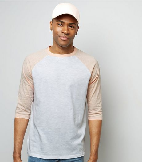 Pink 3/4 Raglan Sleeve T-Shirt | New Look