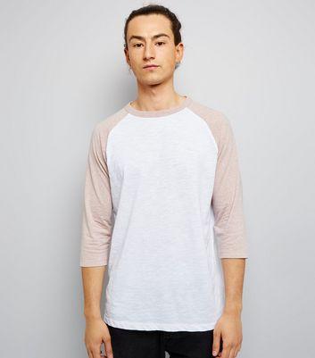 Pale Pink 3/4 Raglan Sleeve T-Shirt