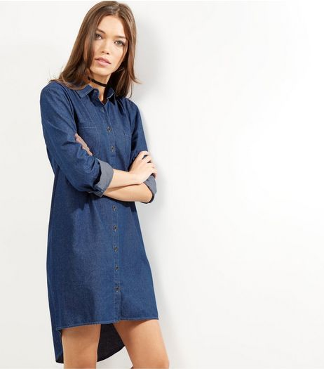 Apricot Blue Denim Shirt Dress | New Look