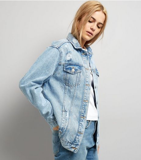 Pale Blue Oversized Denim Jacket  | New Look