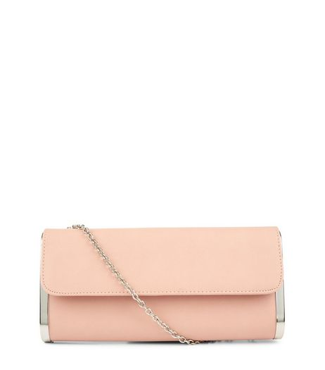 Cream Metal Trim Clutch | New Look