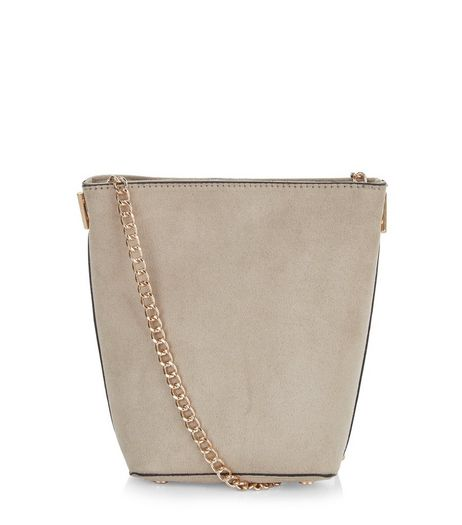 Stone Mini Bucket Bag | New Look