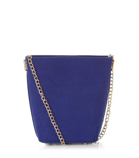 Blue Mini Bucket Bag | New Look