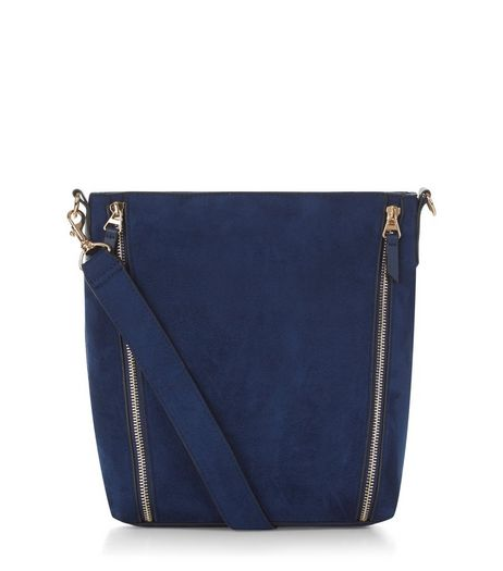 Blue Suedette Bucket Bag | New Look