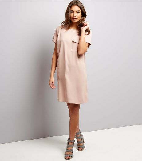 Pink Pocket Front Tunic Dress | New Look
