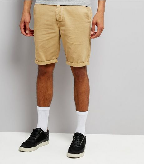 Stone Slim Leg Chino Shorts | New Look
