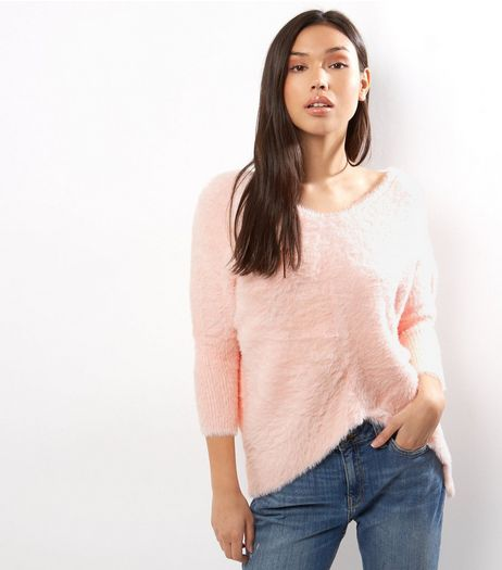 Blue Vanilla Pink Split Front Jumper | New Look