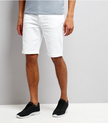 White 5 Pocket Slim Leg Shorts | New Look