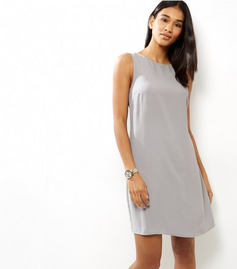 Grey Sleeveless Tunic Dress | New Look